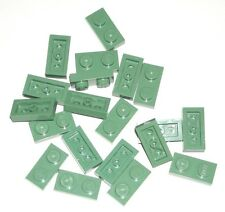 LEGO 20 Sand Green PLATES 1 x 2 76052