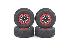 4PCS 1:10 Short Course Truck Tires and Wheel Rims 12mm Hex For HSP RC Model Car