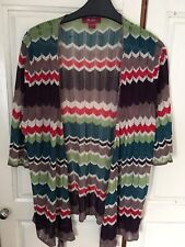 MONSOON SIZE 18 WRAP AROUND TOP STUNNING COLOURS