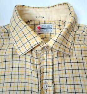 Turnbull & Asser Bespoke Wool Blend Lightweight Flannel Shirt check 16.5