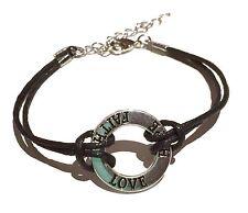 Wax Cord Bracelet Love Faith Hope Affirmation  inspirational friendship gift