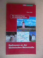 Jahn,Klaus.Radtouren an der Sächsischen Weinstrasse mit ausführlichen Karten