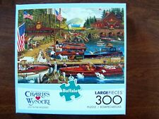 BUFFALO GAMES CHARLES WYSOCKI LOST IN THE WOODIES USED 300 PIECE 100 % COMPLETE