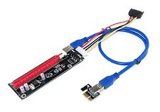 New PCI-Express PCI-E x1 to x16 Riser Card with USB3.0 Cable External Powered