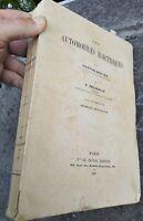 1901 GASTON SENCIER RARISSIMO LIBRO ILLUSTRATO SULLE AUTOMOBILI ELETTRICHE