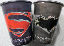BATMAN v SUPERMAN movie promo CUPS (2 pack) DCEU DC Comics Justice League