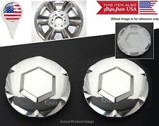 "2 x 02-07 GMC Envoy Polished Center Hub Caps Covers For 17"" 6 Spokes wheel Rim"