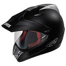 UVEX ENDURO MATT BLACK MOTORCYCLE HELMET *HALF PRICE*- MEDIUM
