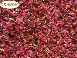 ORGANIC Dried RED Rose Petals for Soap Candles Bath Salts Crafts Vacuum packed