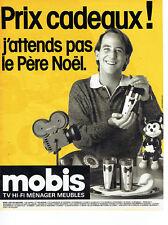 Publicité Advertising 088  1985   Magasins Mobis  tv hi-fi éléctoménager meubles