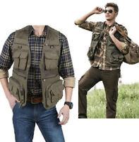 Men 15 Pockets Waistcoat Outdoor Travel Vest Jacket Fishing Photography Field