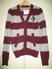 mens ABERCROMBIE & FITCH 80% THICK WOOL BUTTON FRONT CARDIGAN SIZE SMALL
