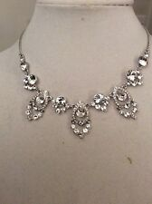 Frontal Collar Necklace #159 Gn $125 Givenchy Clear Crystal Teardrop
