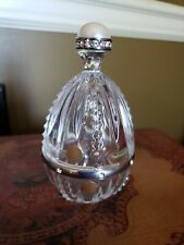 New Rogaska 24% Full Lead Crystal Egg Paper weight Glass Art Yugoslavia Gallia