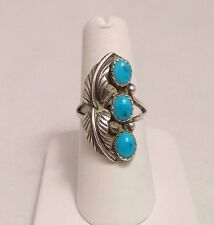 Turquoise Ring. Size 6.5 Native American Sterling Silver