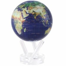 """MOVA 6"""" Satellite View with Gold Lettering Rotating Globe"""