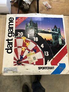 Vintage Sportcraft Dartboard Game With Baseball On Reverse