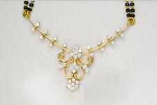 1.11ctw ROUND DIAMOND 14K YELLOW GOLD WEDDING ANNIVERSARY MANGALSUTRA