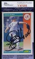 Steve Howe 1992 Score Jsa Coa Hand Signed Authentic Autograph