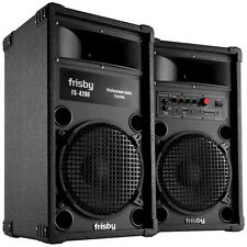 Frisby Amplified Speaker System Party Machine w/Bluetooth FM Radio USB SD Remote