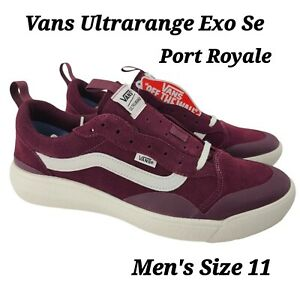 Vans Mens UltraRange Exo Se shoes Suede Port Royale Red Marshmallow Size 11 NEW