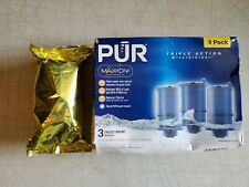Brand New PUR Max-Ion Triple Action 4 PACK FAUCET MOUNT REFILLS