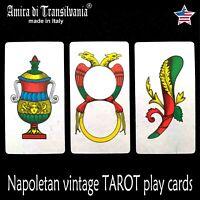 naples tarot card playing cards deck vintage minor major arcana rare oracle lot