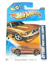 Hot Wheels '67 Ford Mustang Coupe Muscle Mania Ford '12 #V5419 NRFP Brown 1:64