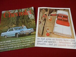 1964 CHEVROLET IMPALA BELAIR BISCAYNE HUGE 16 p. BROCHURE / CATALOG '64 CHEVY SS