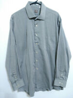 Peter Millar Mens Size 18 XL Gray Long Sleeve Button Up Dress Shirt