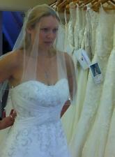 Mori Lee 2105 Wedding Dress Size 12 Ivory + extras Cleaned Undjusted