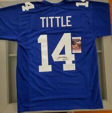 New York Giants YA Tittle signed jersey HOF 1971 JSA Certificate