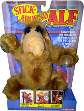 "ALF (Alien Life Form) 6"" Stick Around Plush Toy w/Suction Cups 1988 NEW! MOC!!"
