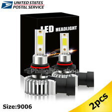 2x 9006 HB4 LED Headlight 2500W 25000LM Fog Light Bulbs Conversion Power 6000K