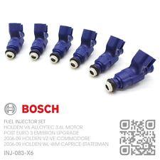 BOSCH FUEL INJECTOR SET V6 ALLOYTEC 3.6L [2006-09 HOLDEN WL-WM STATESMAN/CAPRICE