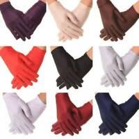 Womens Summer Spandex Gloves Lady Outdoor Anti UV Sun Mittens Thin Gloves
