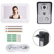 """Kit Videocitofono Fotografa Monofamiliare Telecamera Audio Video Campanello 7"""""""