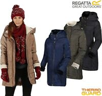 Regatta Ladies Quilted Long Length Hooded Insulated PATCHOULI Jacket Coat Womens