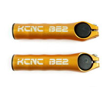 KCNC BE2 Mountain MTB XC Bicycle Bike Cycling Handlebar Grip Bar Ends Gold