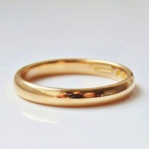 Fine Vintage 22ct Gold Wedding Band Ring c1930; UK Ring Size: 'O'