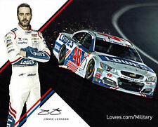 "2017 JIMMIE JOHNSON ""MILITARY LOWES""  MONSTER ENERGY NASCAR CUP SERIES POSTCARD"