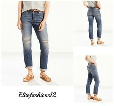 Levi's Womans 501 Boyfriend Jeans Blue Illusion Size 25 x 32 Style # 125010242