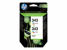 2 X Genuine Original HP 343 Colour Ink Cartridges CB332EE