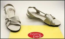 HomyPed Leather Wedge Sandals & Flip Flops for Women