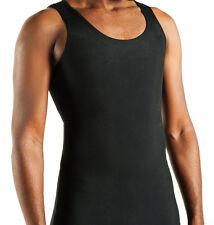 Gynecomastia tank undershirt 2X black Flattens chest. FTM Binder. Made in USA