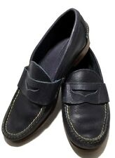 RALPH LAUREN COLLECTION BLUE PEBBLED LEATHER LOAFERS, 8 D, $545