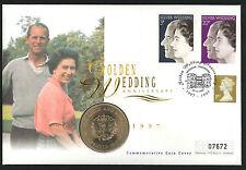 1997 Golden Wedding Coin CC - Crown Coin & Windsor Pmk