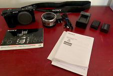 Sony Alpha A6000 Mirrorless Digital Camera 24.3MP + Lens + Accessories FREE SHIP