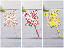 Mother's Day Cake Toppers Acrylic Party Decorations AU STOCK
