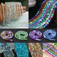 1 String Mystic Aura Quartz Gemstone Bulk Loose Beads Holographic Quartz 6mm